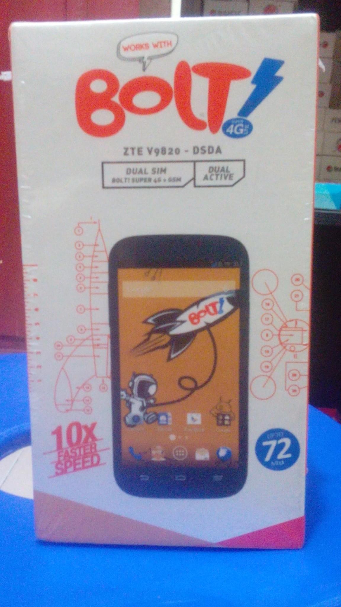 Hp android murah POWER PHONE BOLT ZTE V9820 - DSDA - 4G