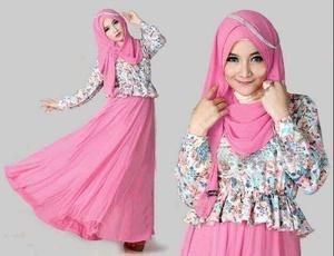 aulia soft pink / baju hijab fashion busana muslim wanita