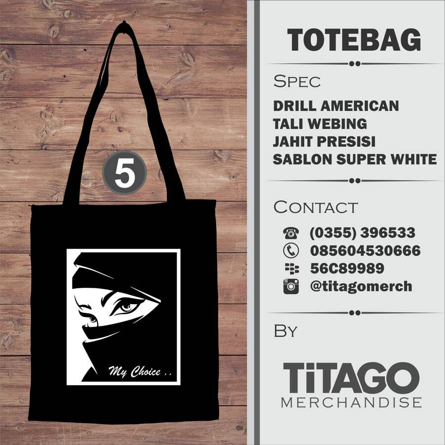 Totebag Drill Hijab Choice