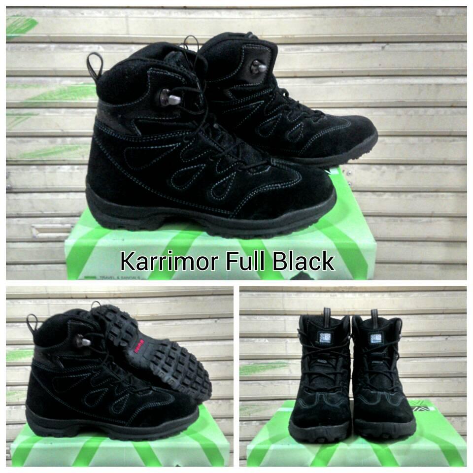 Jual Promo Sepatu Karrimor Hitam Full Black Tracking Hiking Gunung Kulit Zerosix Jacket Tokopedia
