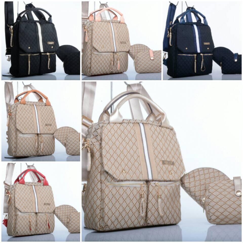 Zb 3 In 1 Premium Quality Backpack Set Polka Tas Ransel Green Remaja Set3in1 Jual Batam 3fungsi Gucci 891 Murdianshop Tokopedia