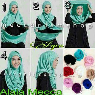 Kerudung Alaya meca/ hijab instan/ jilbab