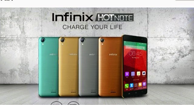 Infinix Hot Note X551 - Champagne Gold