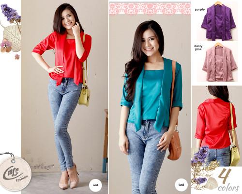 Harga Baju Silk Kain Tradisional Batik Atasan Blouse Top