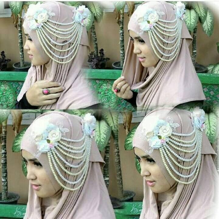 bros hijab/ aksesoris hijab / headpiece hijab / belt hijab