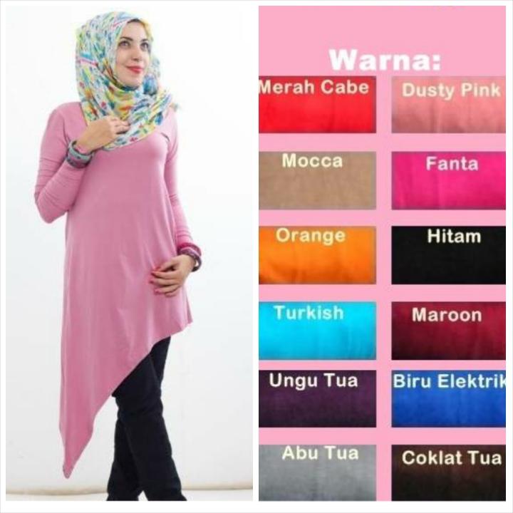 Jual Baju Atasan Muslim Murah Meriah 042 Dress Hijab