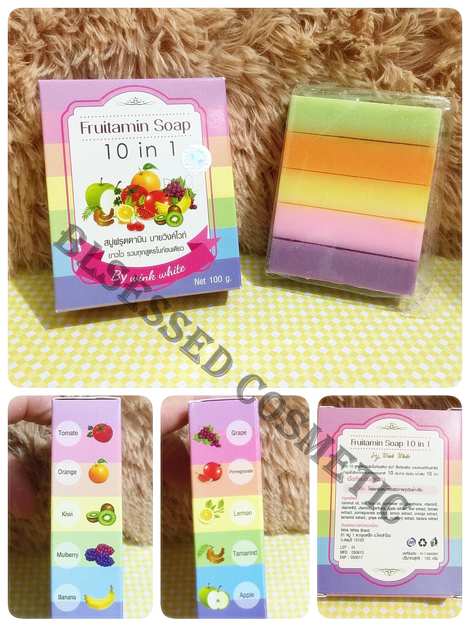 Jual Sabun Vitamin 10 In 1 Fruitamin Soap By Wink White Blessed Frutamin Cosmetic Tokopedia