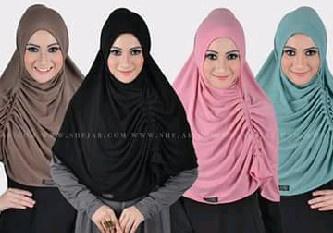 Hijab/Jilbab Instant Zahra Kerut