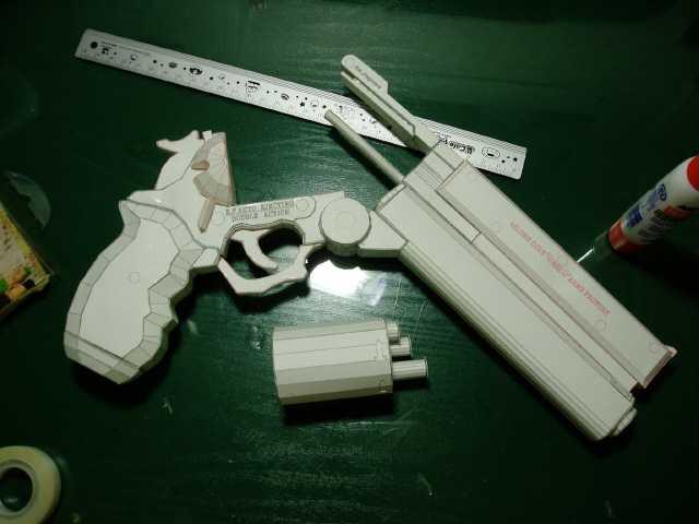Как сделать пистолет из бумаги видео