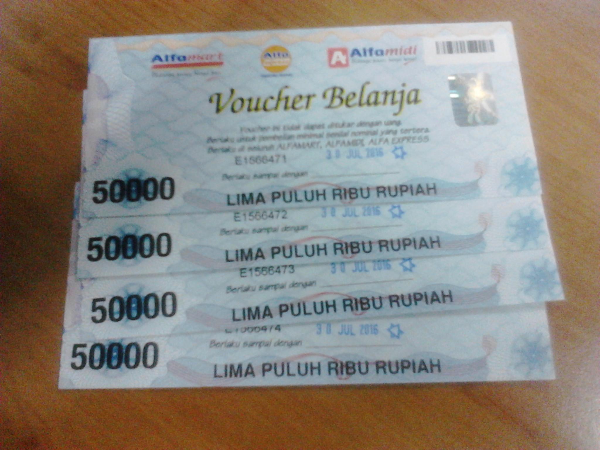 Jual Voucher Alfamart Toserba Naura Tokopedia 50000