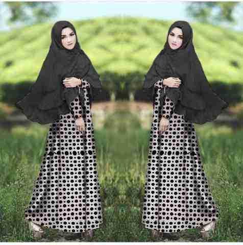 Hijab Khaira putih bahan spandek korea , bergo spandek jersey super