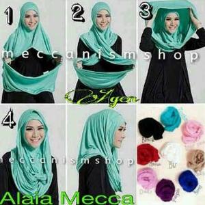 Hijab Instan Jilbab Hoodie Alaia Mecca