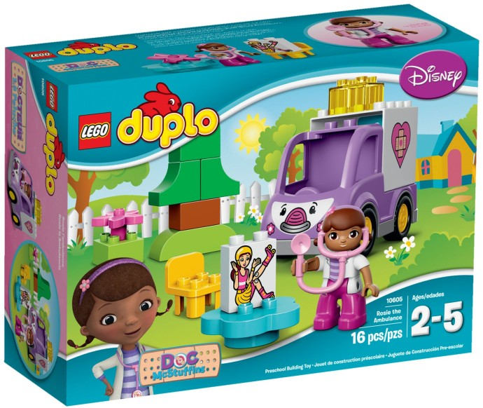 LEGO # 10605 DUPLO DOC MCSTUFFINS ROSIE THE AMBULANCE