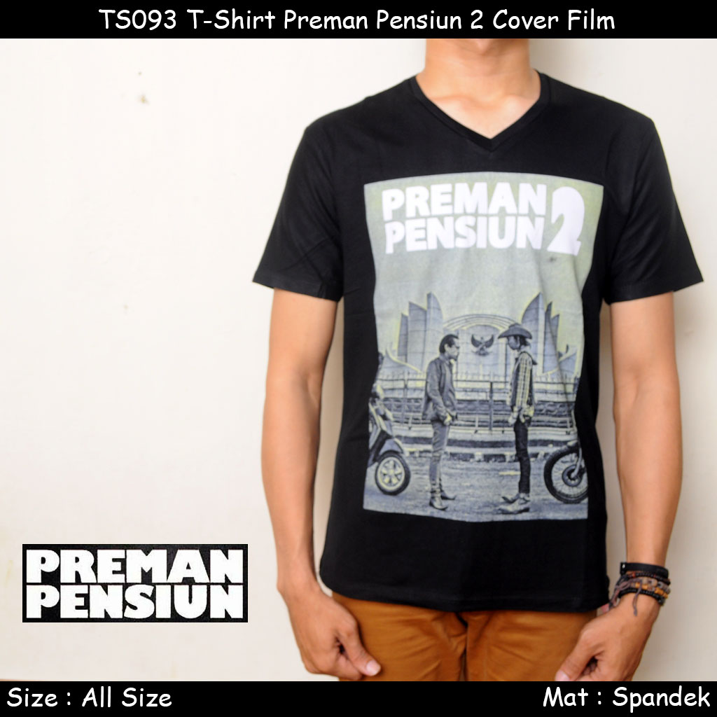 harga TS093 T-Shirt Preman Pensiun 2 Cover Film Tokopedia.com