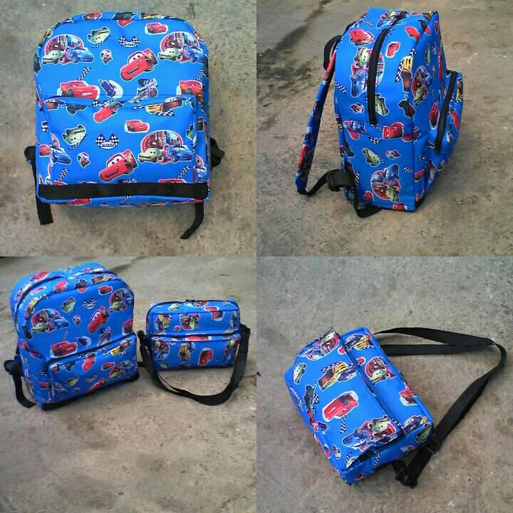 Jual tas anak, tas sekolah, backpack, tas cowok (blue car) - MIDORI ...