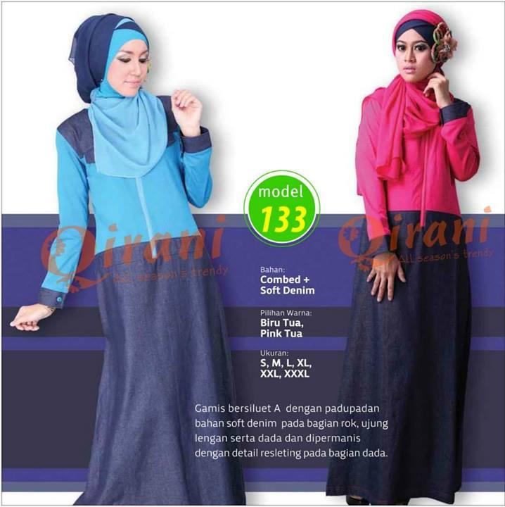 Jual Baju Muslimah Qirani Model Q 133 Gamis Toko Nadia Busana