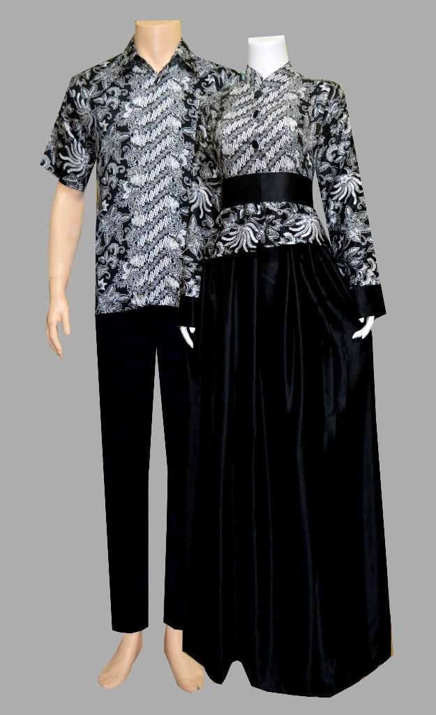 38 Baju Gamis Batik Model Terbaru Sarimbit Coklat
