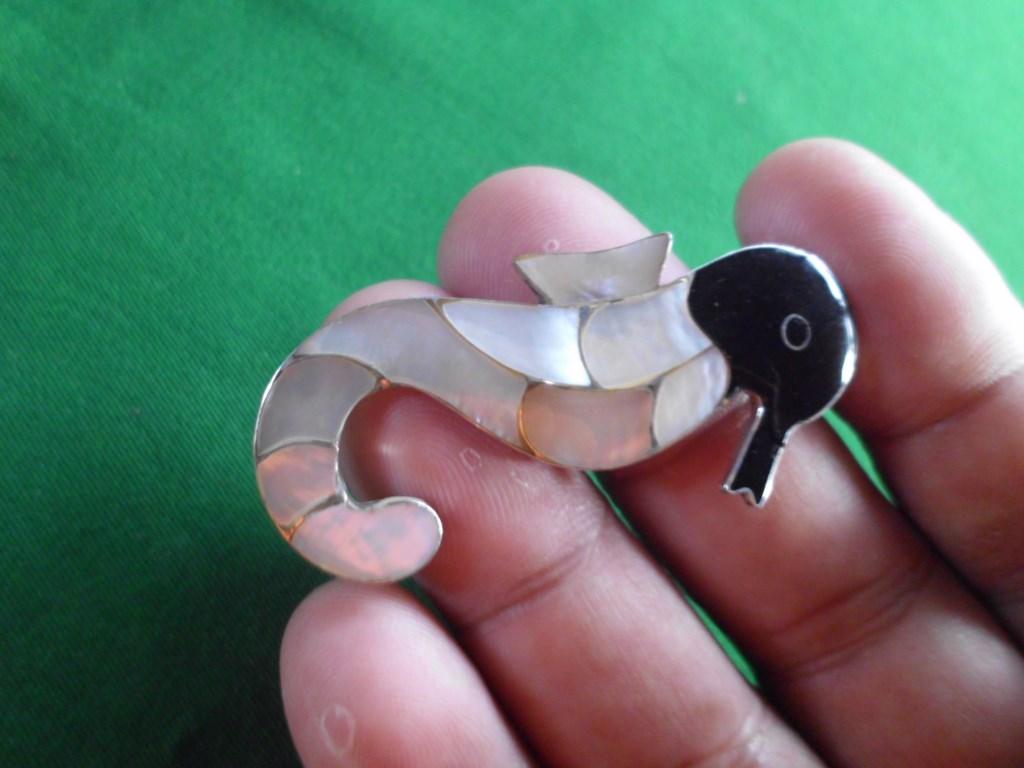 harga Bros PERAK modif KULIT KERANG hitam putih Ukuran model kuda laut Tokopedia.com