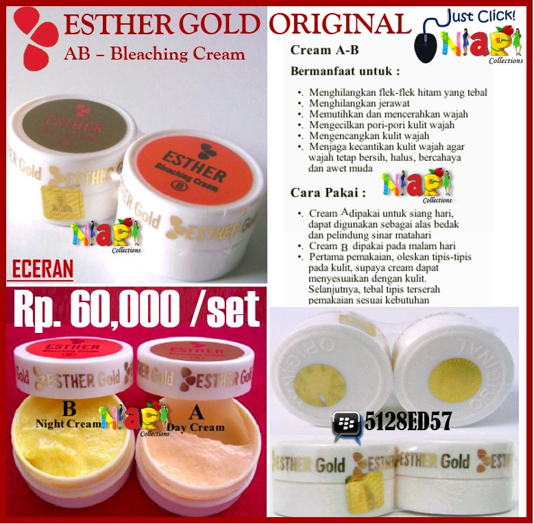Esther Silver Bleaching Cream Esther Gold Bleaching Cream ab