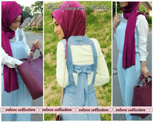 h-hijab jumpsuit ribbon@86 bhn jeans+pshmn jersey super+inner spandek
