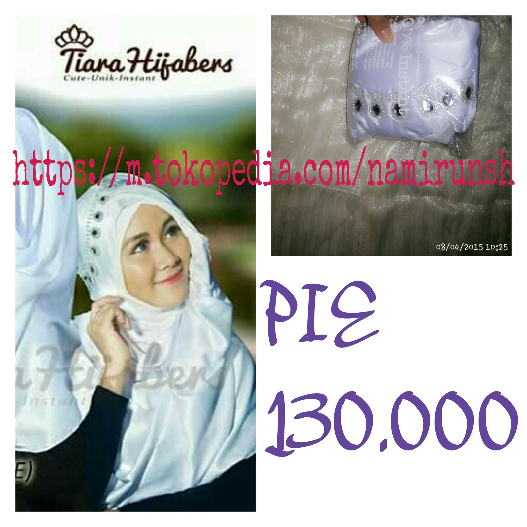 Jual Hijab Jilbab Kerudung Pashmina Instan Tiara Hijabers Pie Namirun Shoppaholic Tokopedia