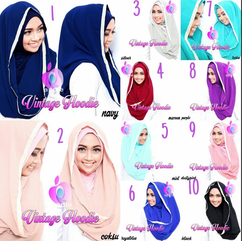 Jilbab HOODIE VINTAGE by Apple Hijab