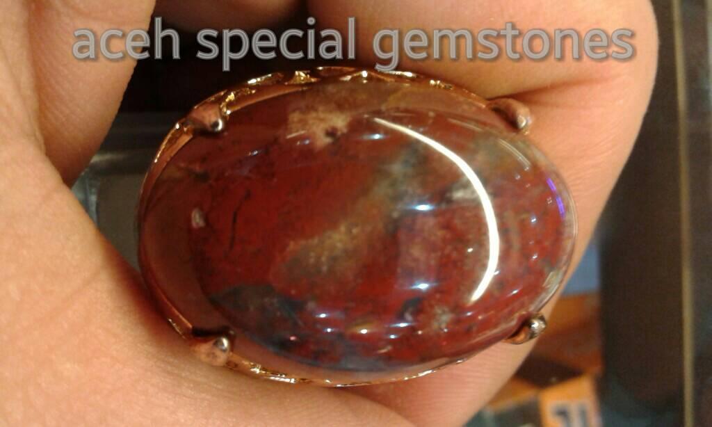 """harga cincin batu akik lumut merah """"BERSIMBAH DARAH""""  HQ _ asli aceh _ Tokopedia.com"""