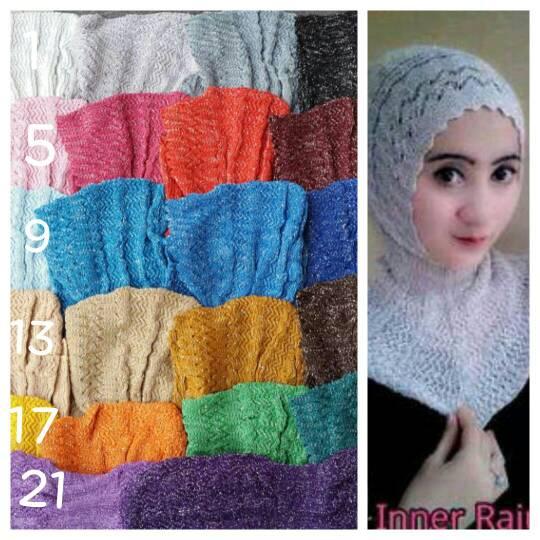 Dalaman Jilbab Inner Hijab Ciput Antem Rajut Gliter Kode 3c00-15
