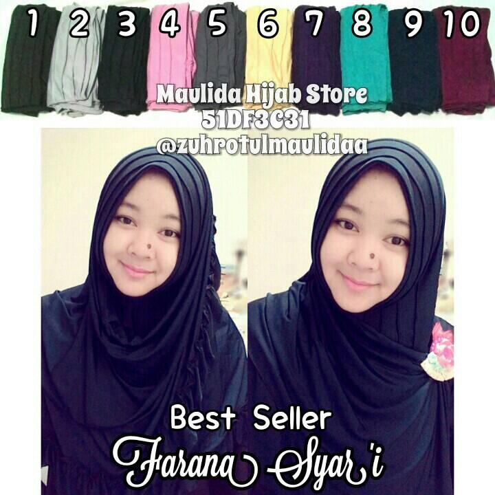 Farana syar'i / grosir hijab murah/ jilbab bergo instan spandek