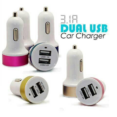Harga Car Charger Dua USB / Charger Mobil Dual Port Usb