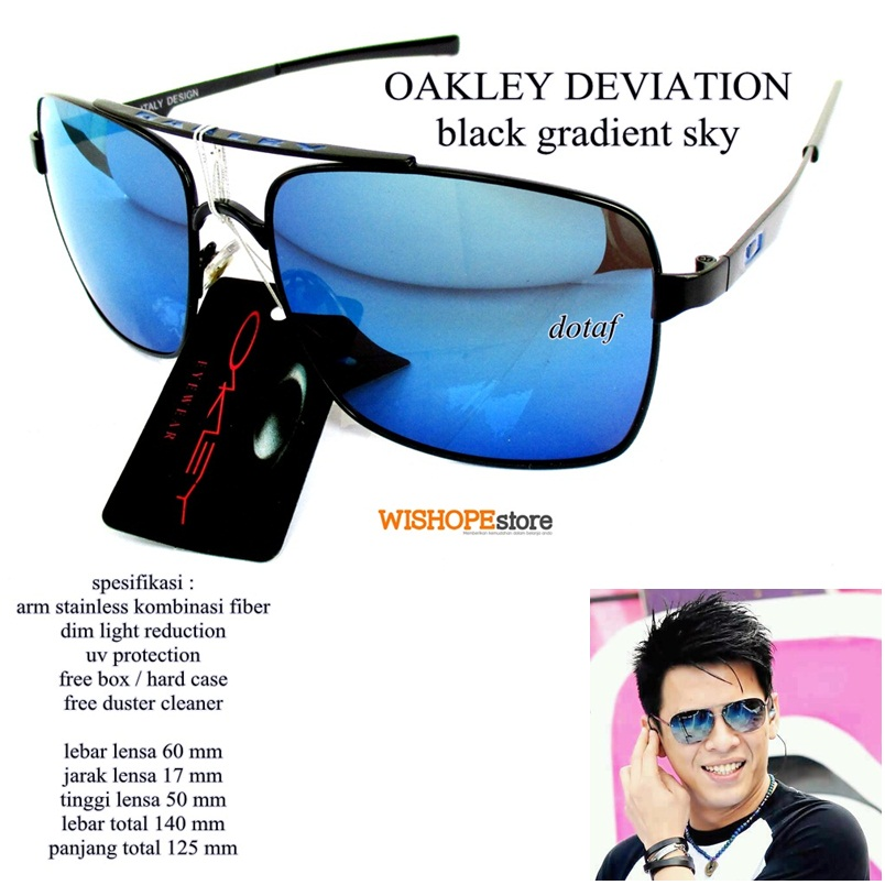 harga KACAMATA SUNGLASSES OAKLEY DEVIATION BLACK GRADIEN SKY FULL SET Tokopedia.com