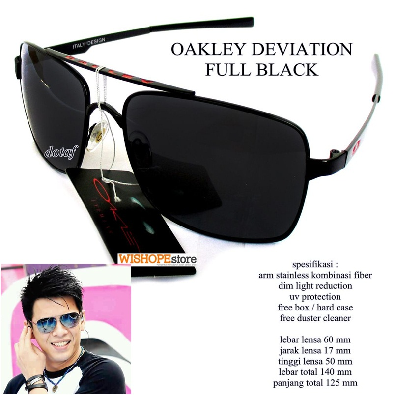 harga KACAMATA SUNGLASSES OAKLEY DEVIATION BLACK GRADIEN BLACK FULL SET Tokopedia.com