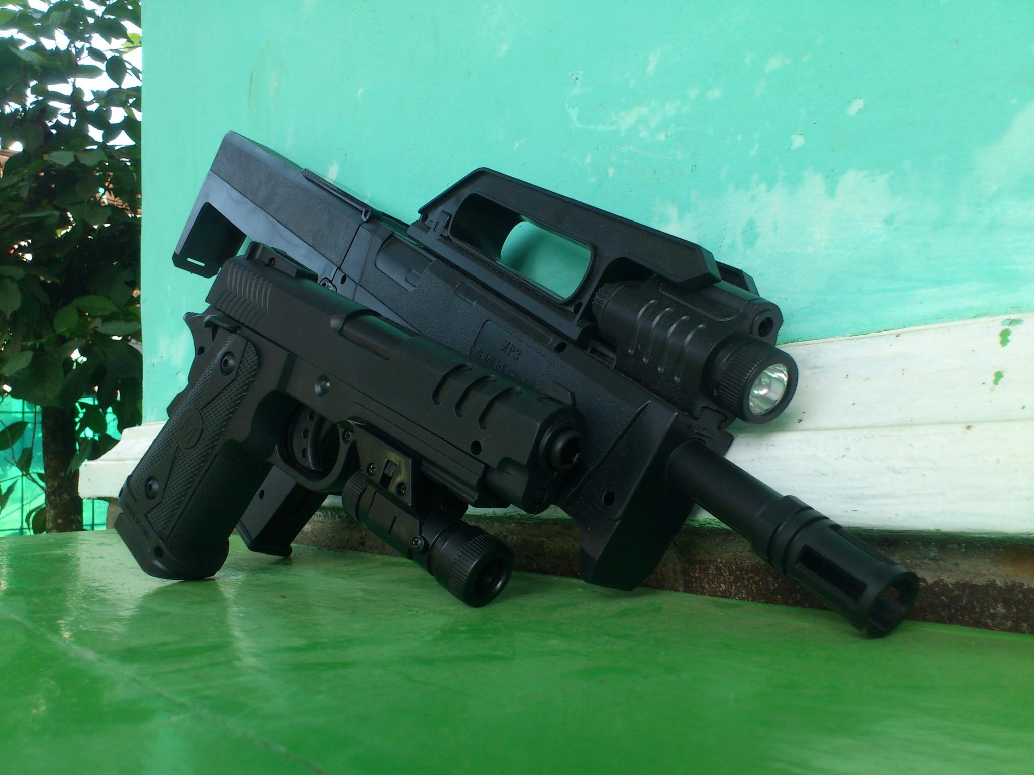 harga Paket FMG9 & Handgun Hi-capa 38 airsoft spring Tokopedia.com