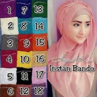Jilbab Instan Bando Instant Hijab Kode 3c00-51
