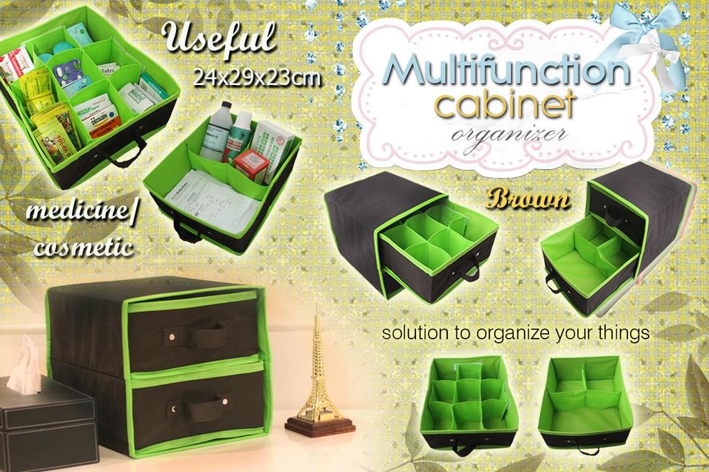 harga Multifuction Cabinet Organizer ( MCO Brown ) Tokopedia.com