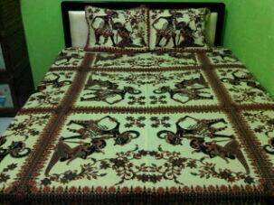 harga sprei batik motif wayang no.1 Tokopedia.com