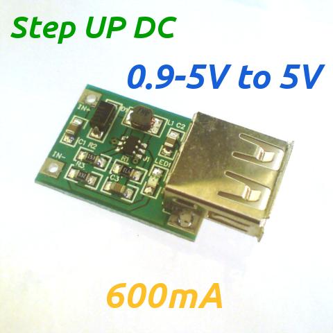 Dongkrak Tengangan (Voltage) DC 0.9-5V to USB 5V 5 Volt StepUp Step-Up