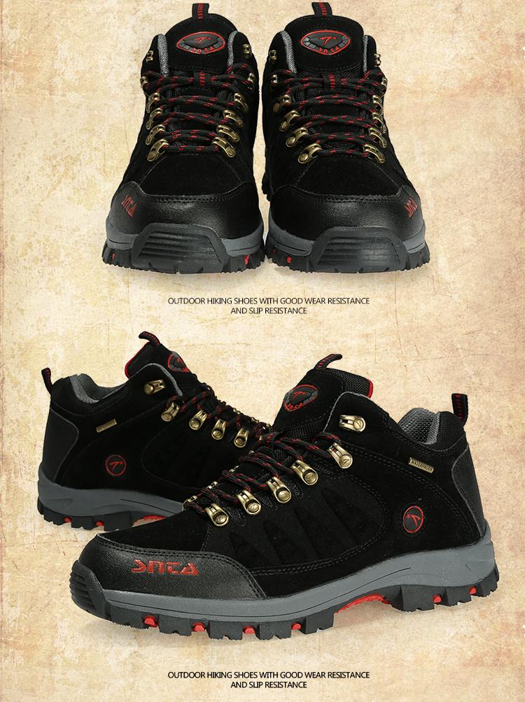 Jual Sepatu Gunung Hiking Boot Outdoor SNTA 470 Black Red