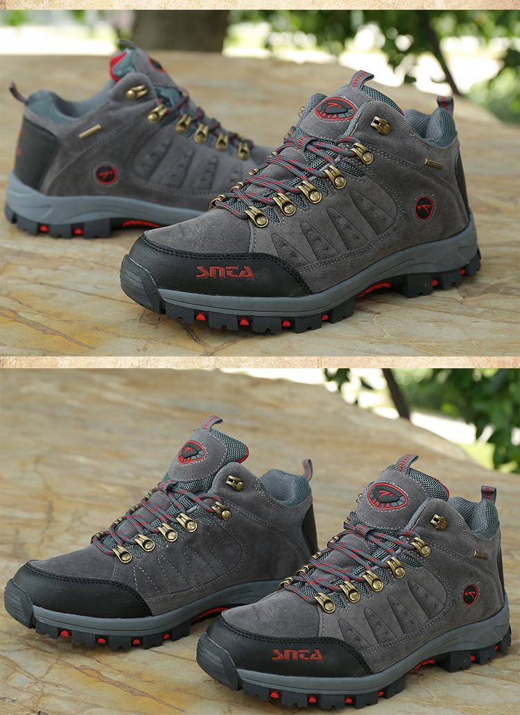 Jual Sepatu Gunung Hiking Boot Outdoor SNTA 470 Grey Red