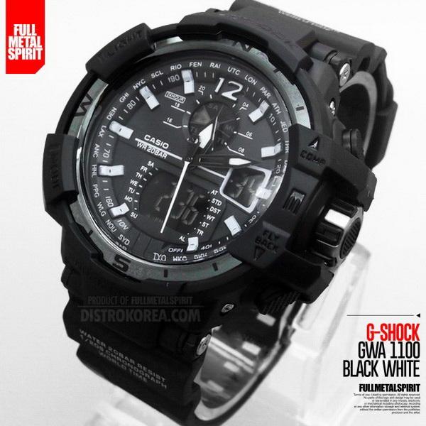 Jam Tangan Pria G-Shock GWA 1100 Black White