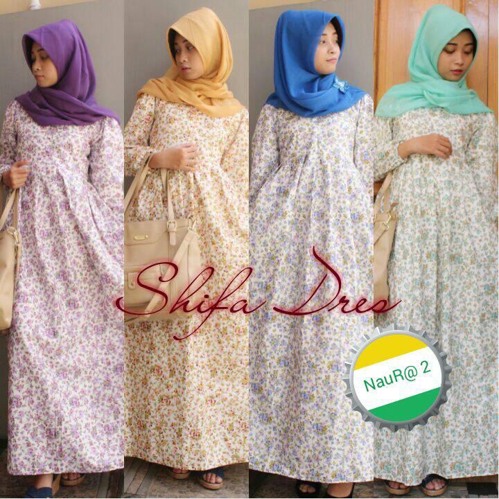 supplier hijab : shifa dress by naura