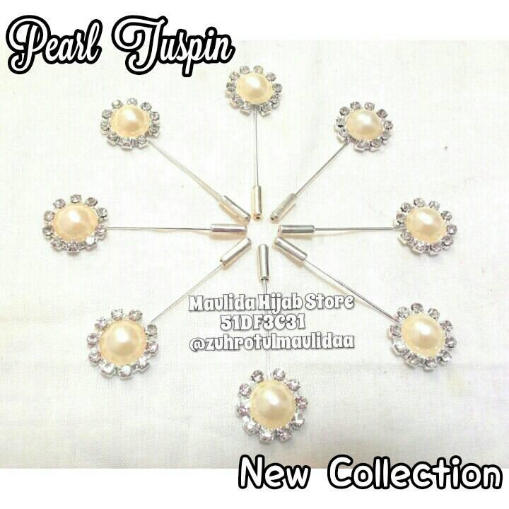 Pearl Tuspin / grosir hijab murah / jarum pentul tuspin mutiara bross