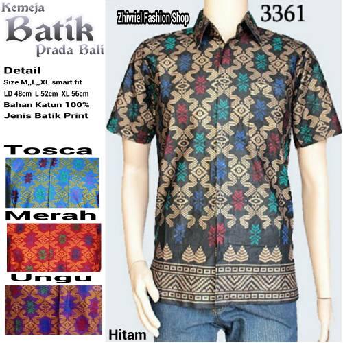 Toko Pedia Baju Batik: Jual Baju Kemeja Batik Pria Prada Bali