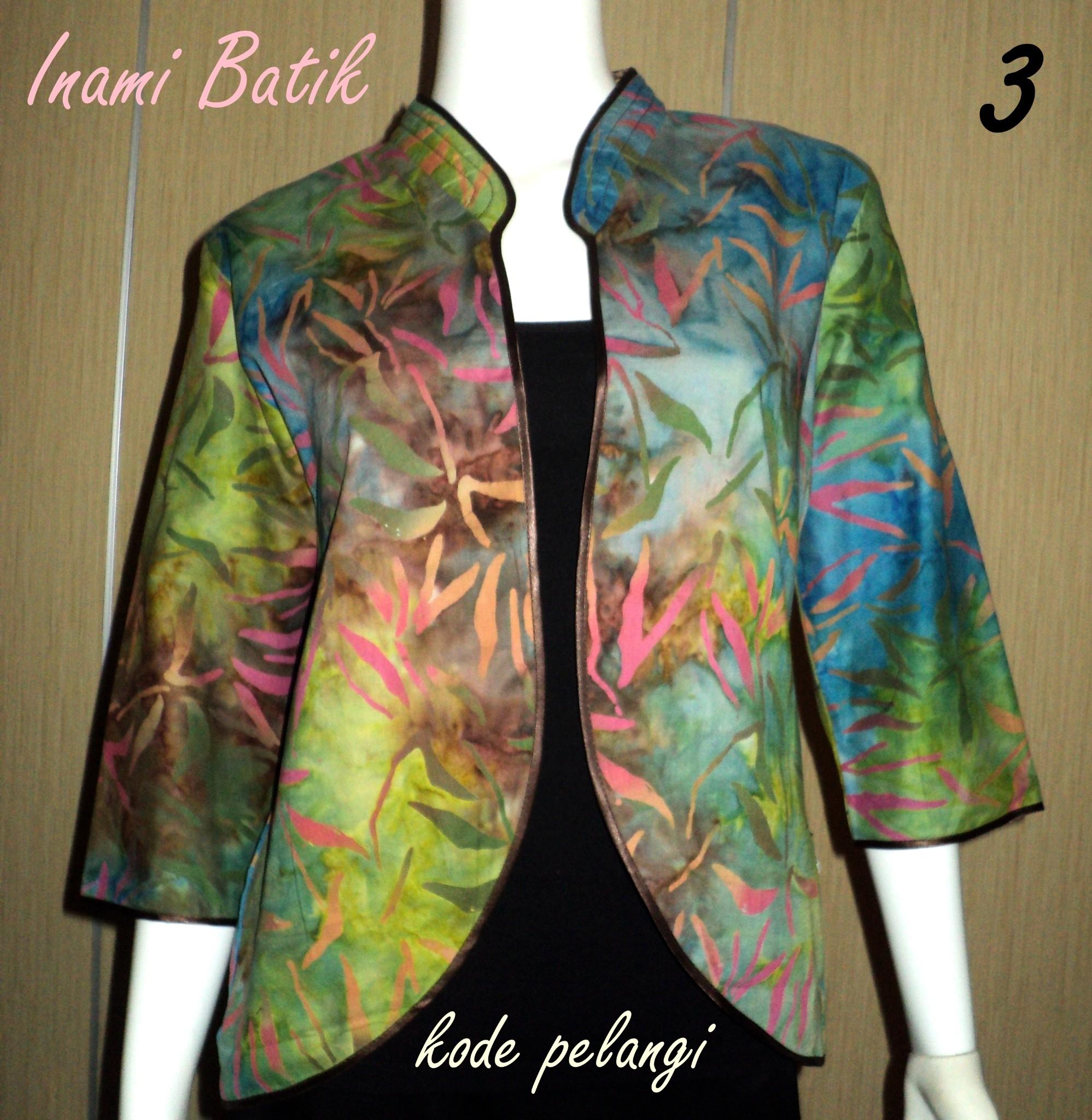 Jual Blazer Batik Modis / Blazer Pelangi / Batik / Bolero