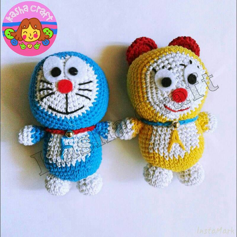 Crochet Doraemon Amigurumi : Amigurumi doraemon tutorial kalulu for