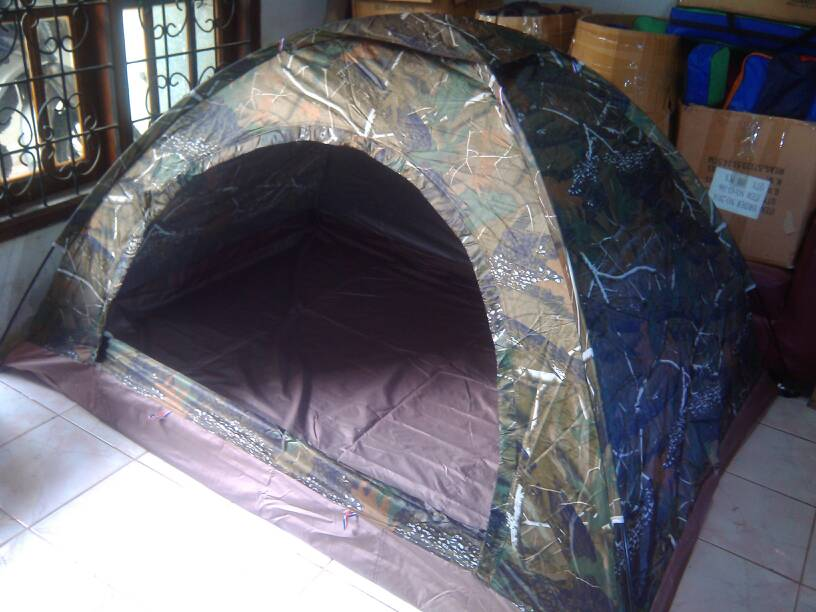 (vntg) Tenda Dome Camo Daun Oak Kap 2-3p Single Layer