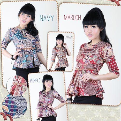 Toko Pedia Baju Batik: Jual Baju Batik Peplum Atasan Top Wanita Katun Tradisional