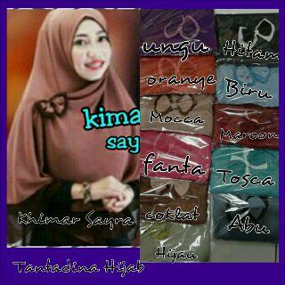 Hijab Jilbab Khimar Sayra Bobal 2Tone