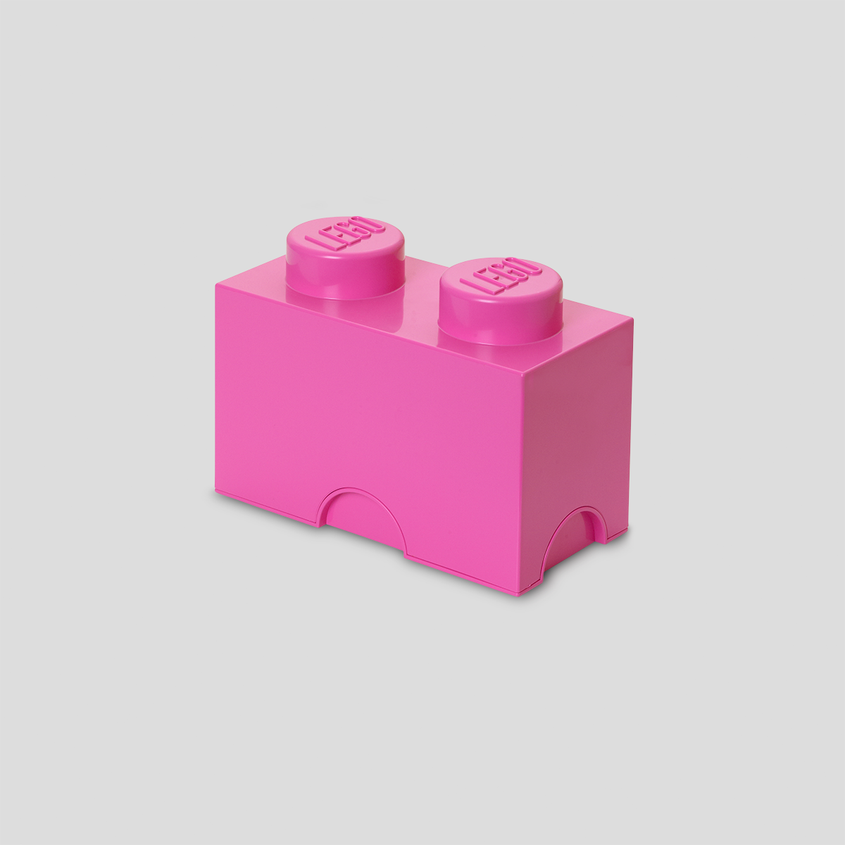 LEGO # 4002 STORAGE BRICK 2 KNOB - BRIGHT PURPLE