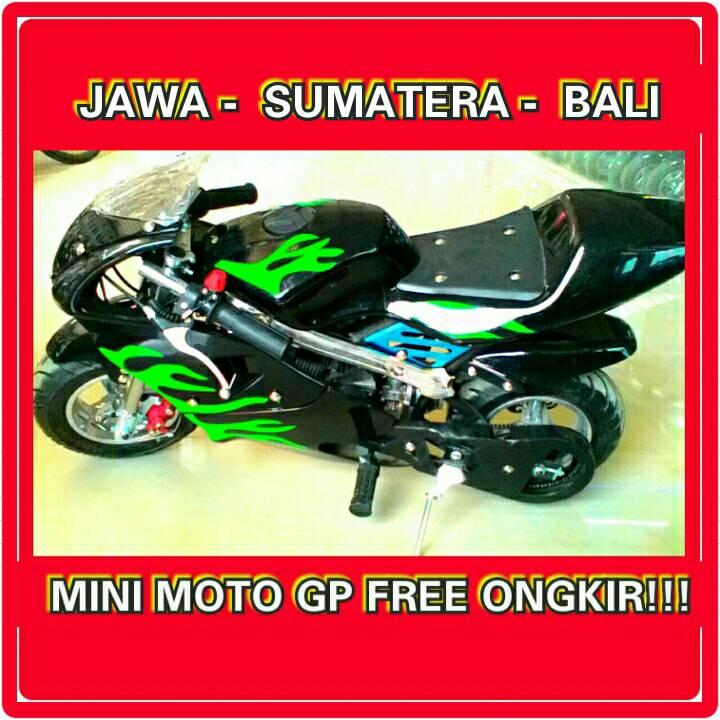 PROMO MINI MOTO GP X5 50CC BLACK FREE ONGKIR